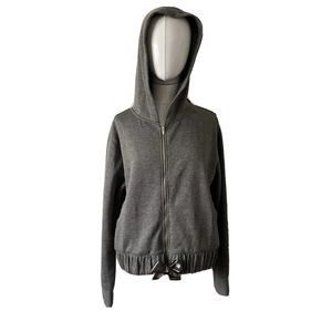 A New Day L Thick Fleece Hoodie Ribbon Tie Soft